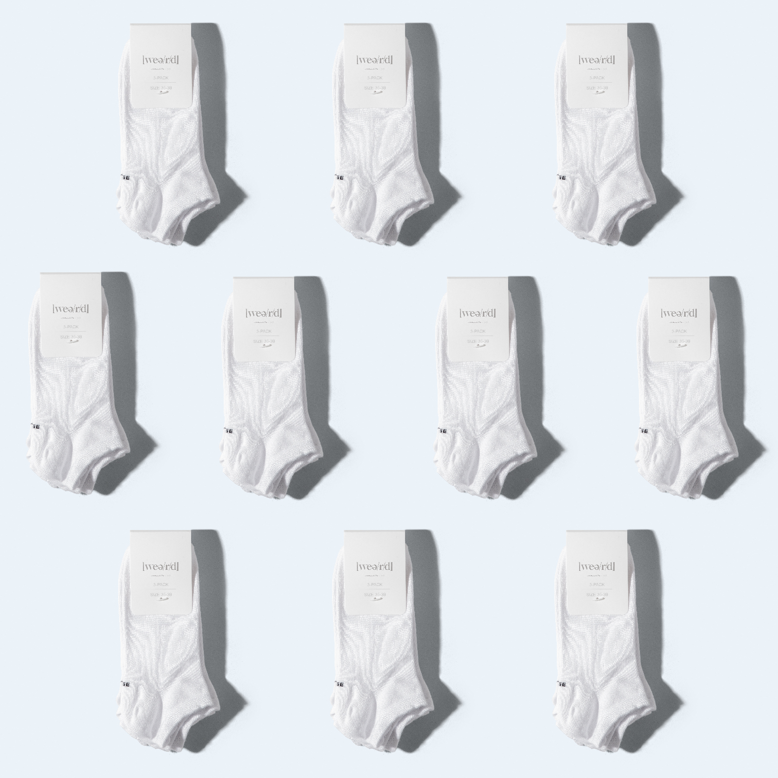 Best Socks Ever [10 x 3 pcs - low cut] - white