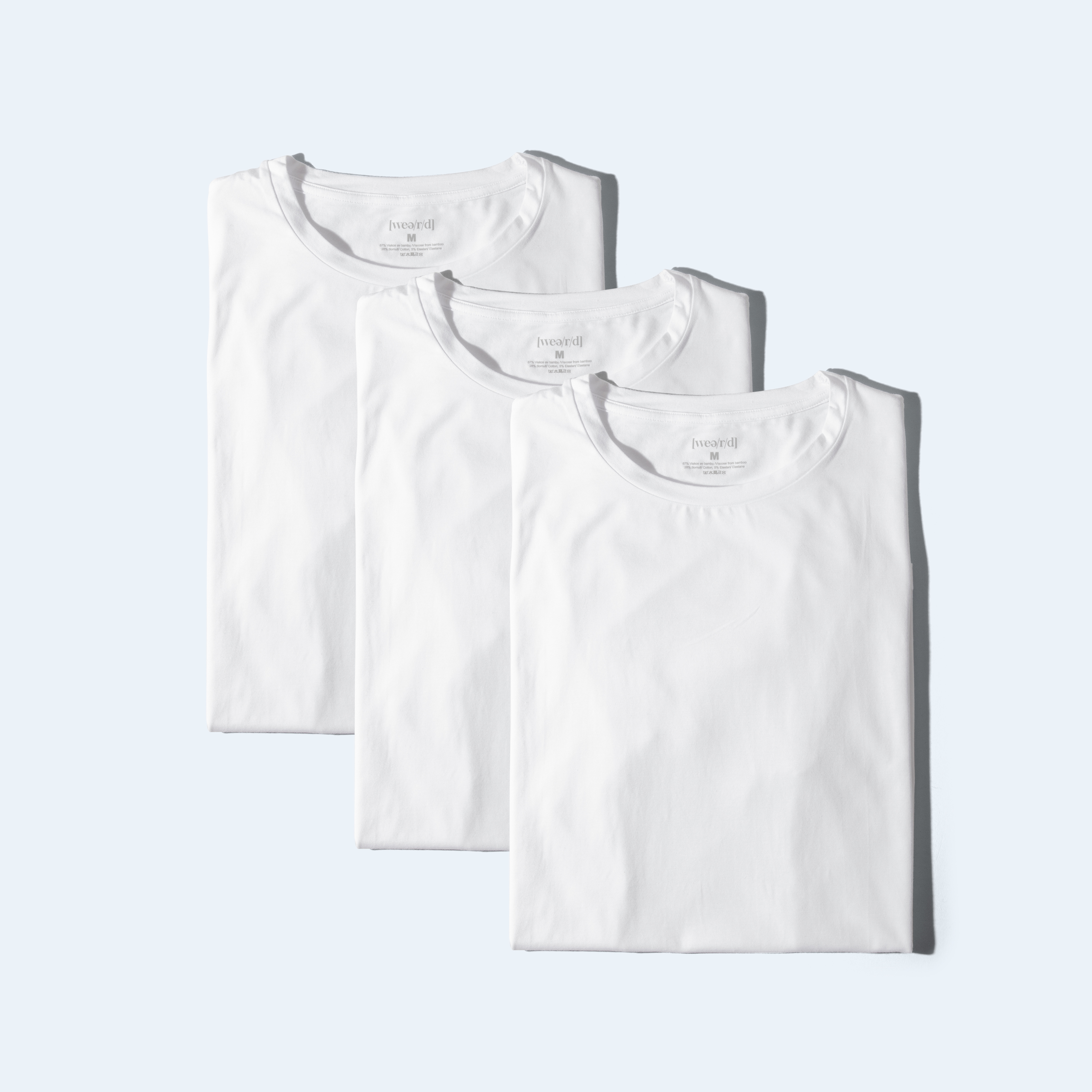 Awesome T-shirt [3 pcs - crew neck] - white