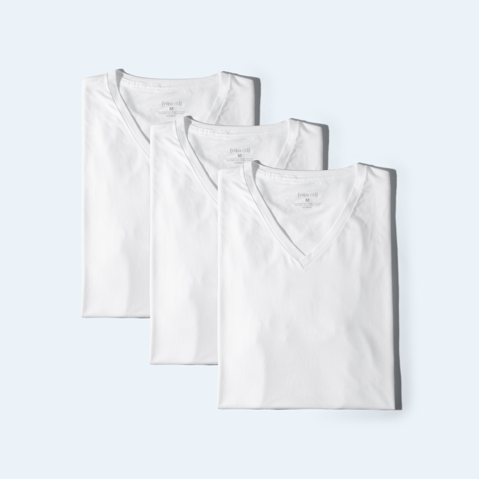 Awesome T-shirt [3 pcs - V-neck] - white